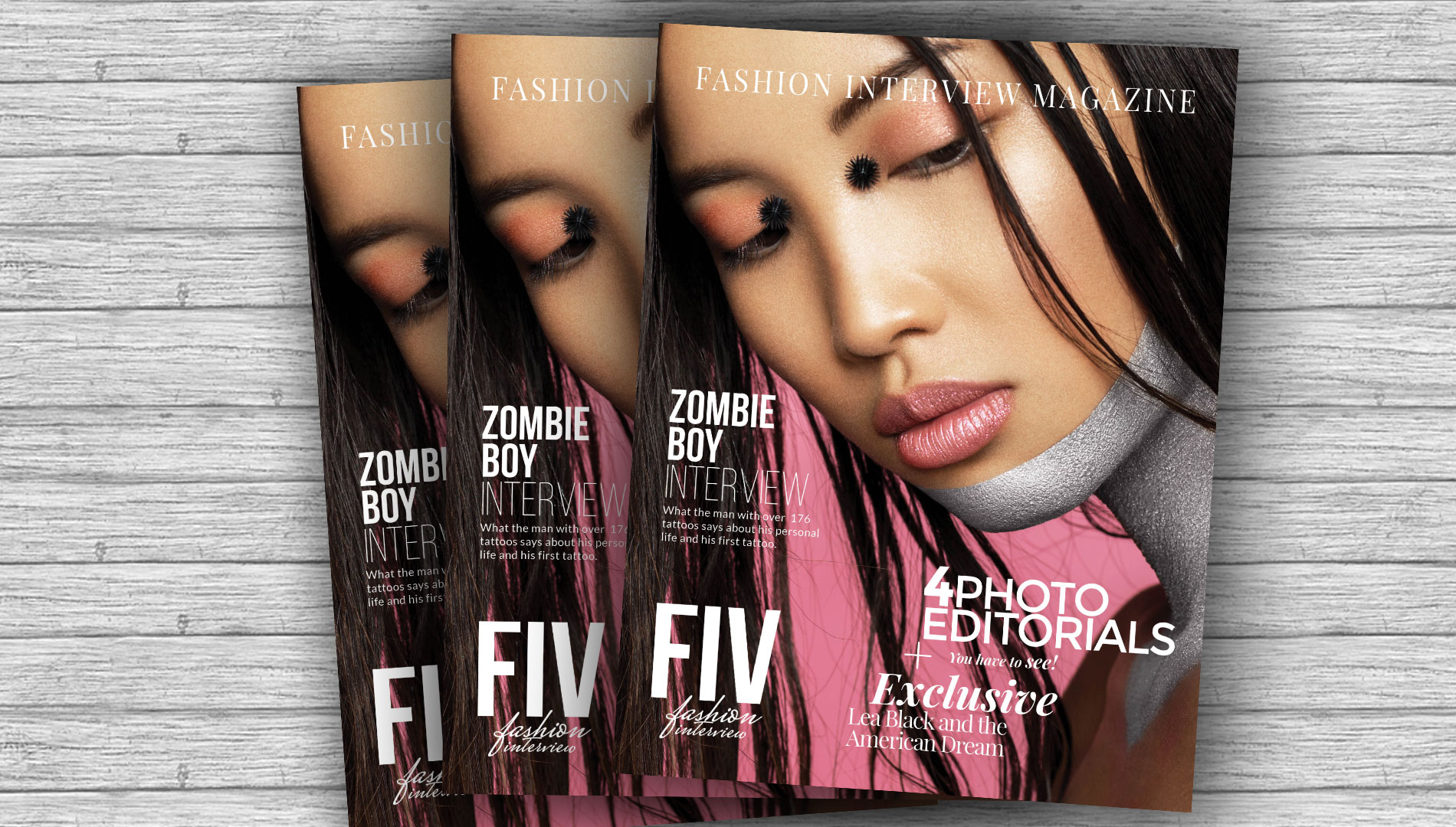 New Issue #2 exclusive interview with ZOMBIE BOY + 4 excusive editorials + Lea Black about her American Dream
