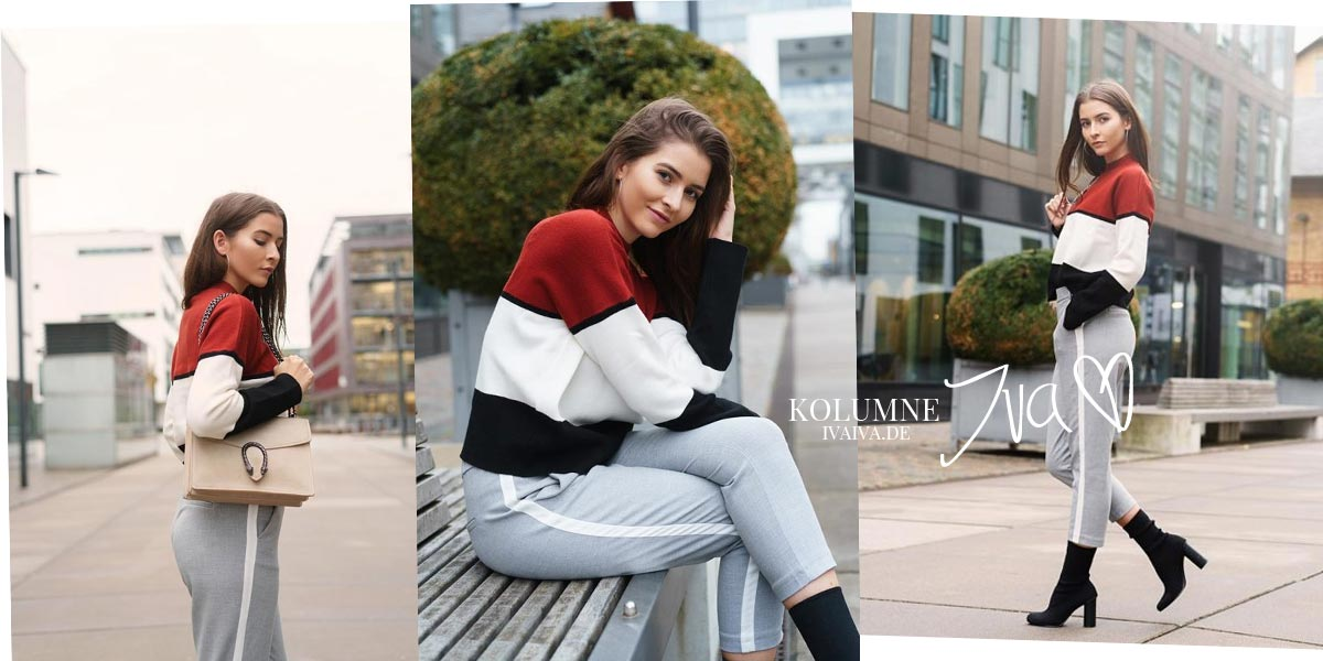 Herbst Outfit - Stripes & cozy