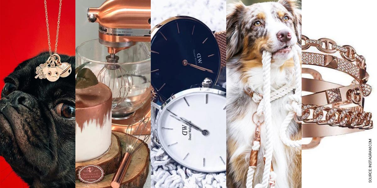 Rose Gold Trend in Spring 2018: iPhone, Chains, Rings & Watches Favorites on Instagram