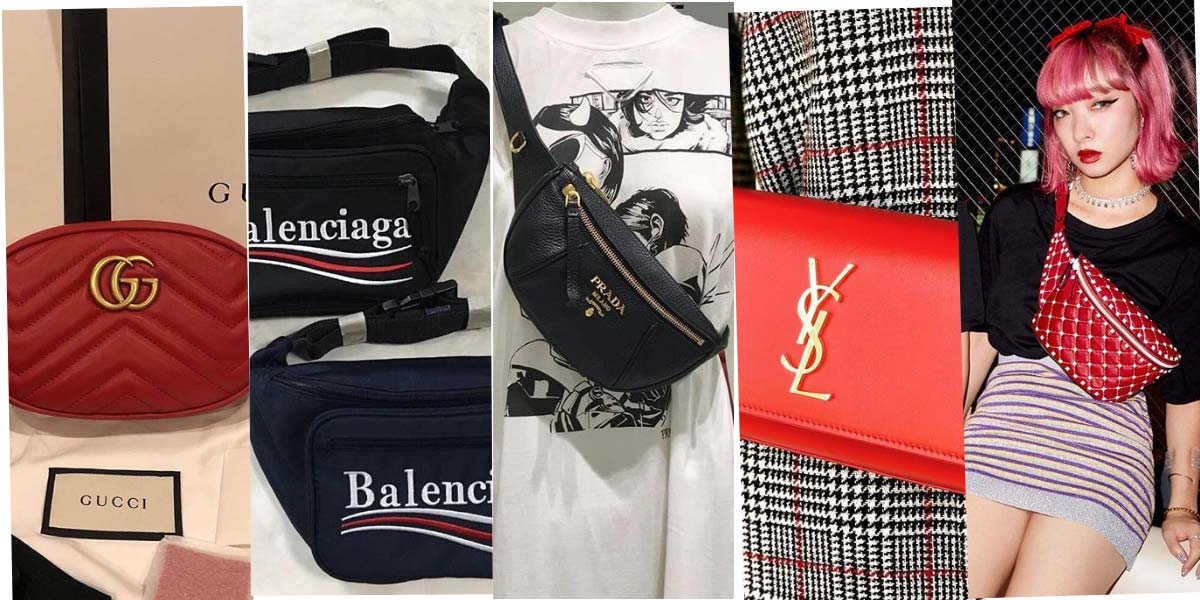 Luxury brands & fanny packs: Valentino, Miu Miu, Prada & Co.
