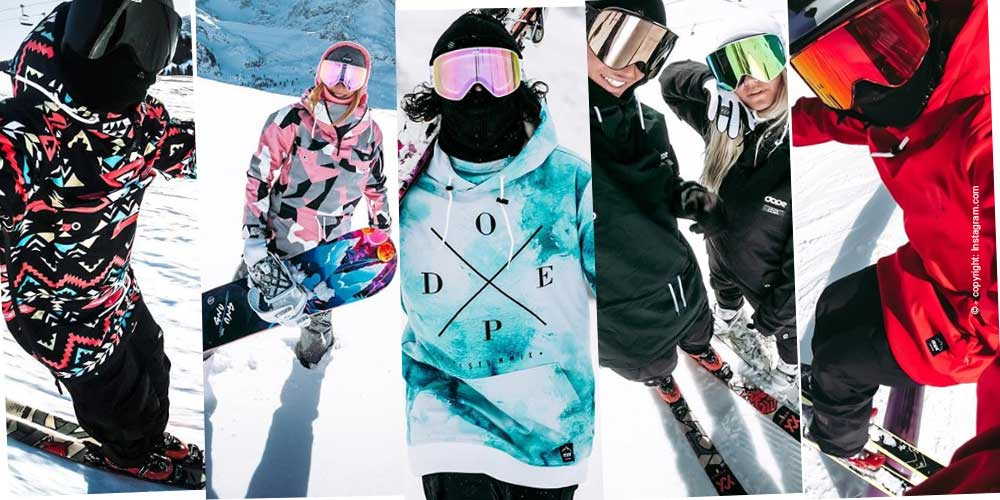 The current ladies ski jacket trends for the winter season 2018/2019