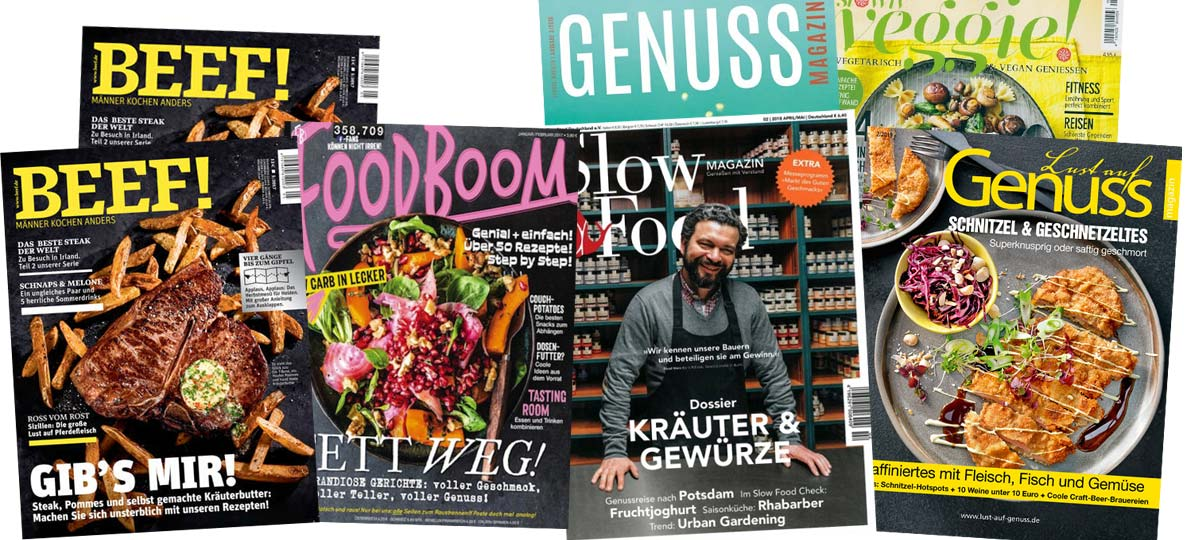 What to cook today!? Top magazines in Germany for cooking and baking