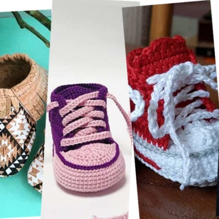 Knit your own baby slippers: Instructions, size chart and tricks