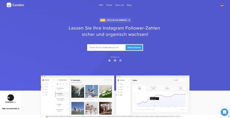 Combin: Digital Social Media Manager - Software for