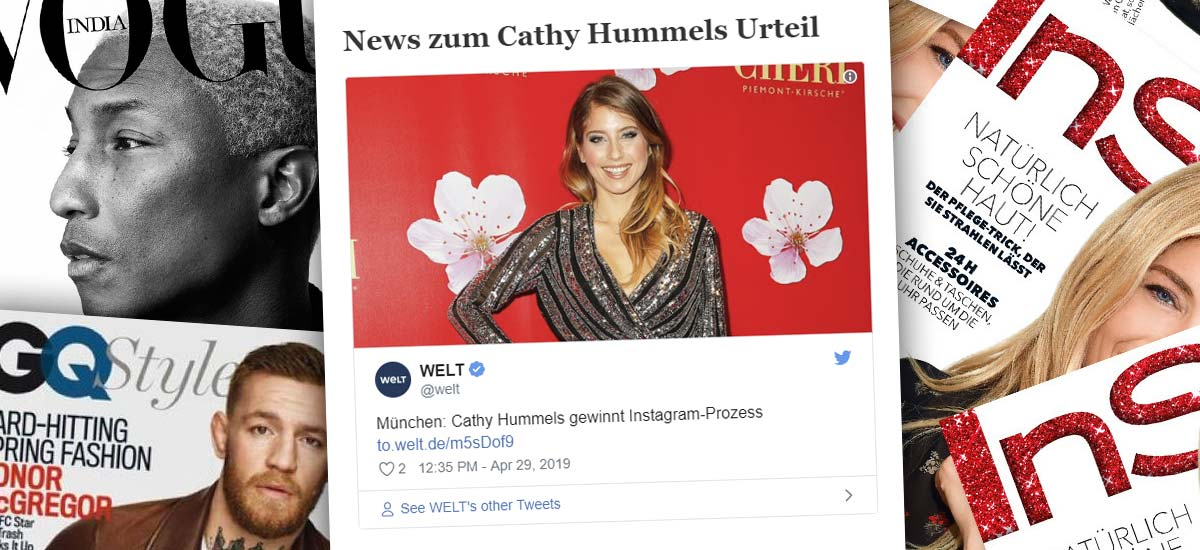 Cathy Hummels wins trial in Munich: Advertising on Instagram - Judgement