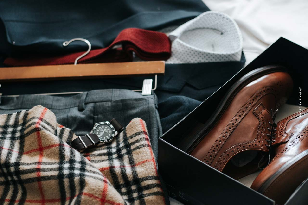 Capital investment designer fashion: shoes, jackets and expensive bags
