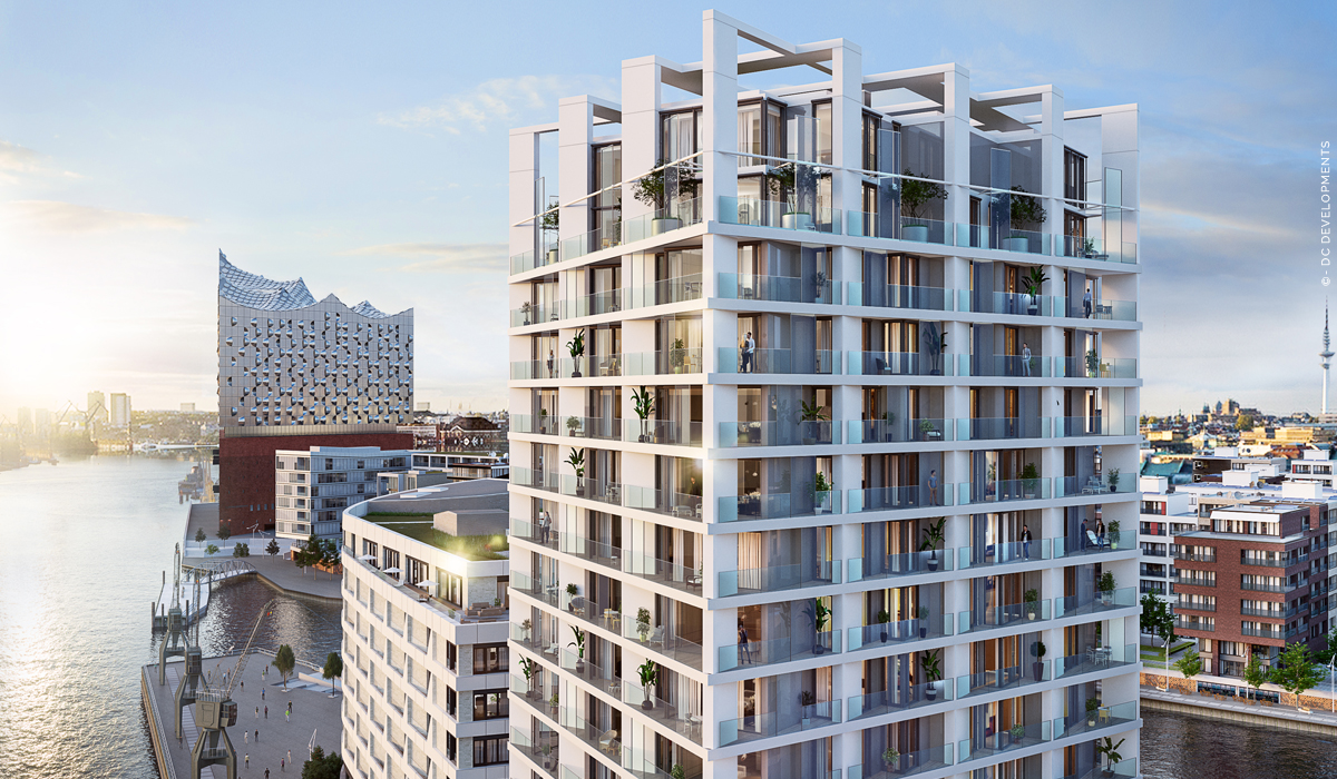 The Crown: Luxury properties Hamburg HafenCity - Condominiums with a view of the Elbphilharmonie! New construction